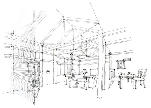 培训动态 机构动态    手绘是室内设计的基础,是设计师交流的语言图片