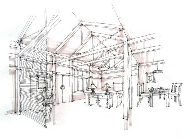 培训动态 机构动态    手绘是室内设计的基础,是设计师交流的语言
